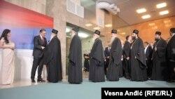 Visoki predstavnici SPC na ceremoniji inauguracije Aleksandra Vučića, jun 2017.