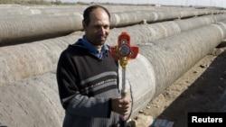 Una din conductele de transport a gazului natural ce leagă Egiptul de Israel