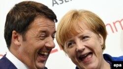 Премьер-министр Италии Маттео Ренци приветствовал в Милане канцлера ФРГ Ангелу Меркель