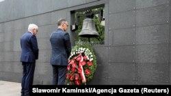 Ministrul german de externe Heiko Maas (d) și omologul său polonez Jacek Czaputowicz (s), Varșovia, Polonia, 1 august, 2019