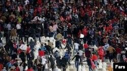 بروز ناآرامیها در ورزشگاه تبریز