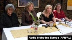 Прес-конференција на Организација на жени во Битола.