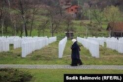 Мэмарыял загінулым у Срэбраніцы, 24 сакавіка 2016 году.
