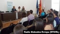 """Предавањето на студените во Битола на тема """"Национално помирување""""."""