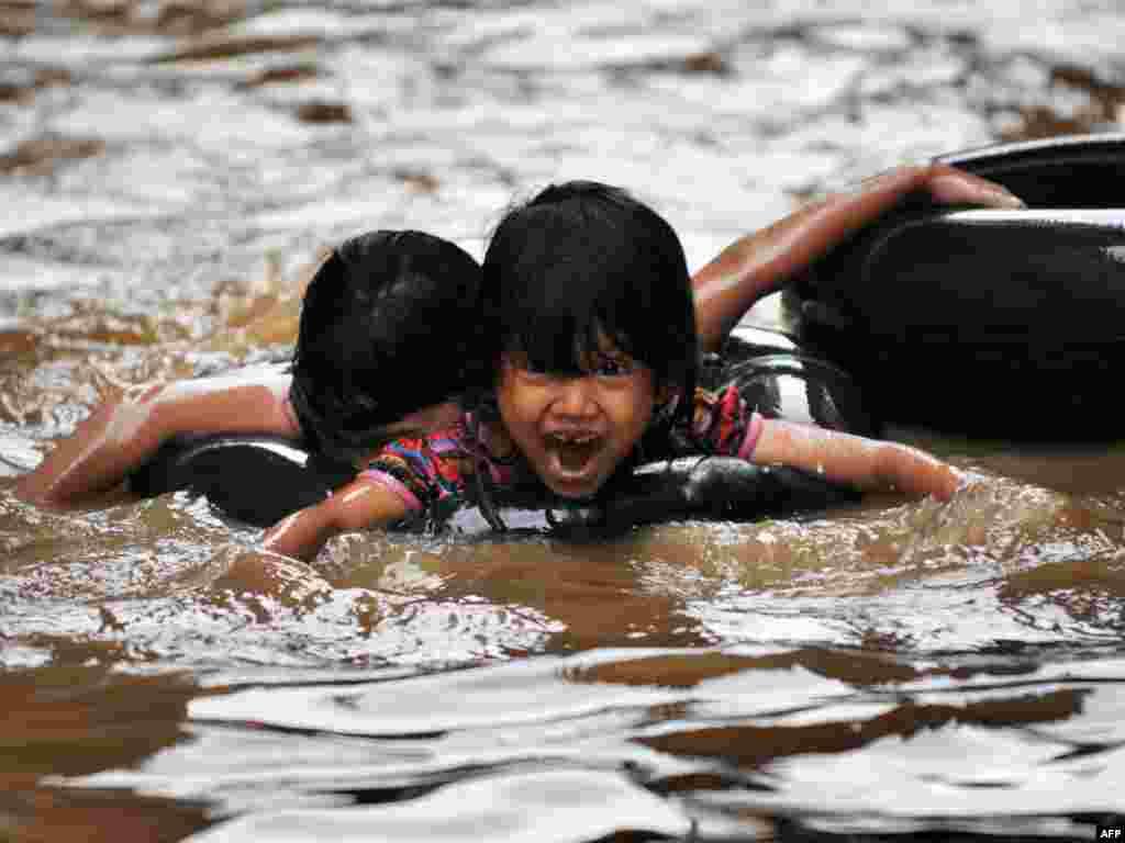 Інданэзія: паводка ў Джакарце