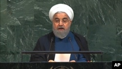 Iranian President Hassan Rohani Rohani (pictured) and U.S. President Donald Trump exchanged harsh words during their speeches at the annual UN Assembly in September. (file photo)