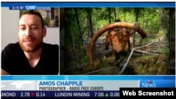 RFE/RL photojournalist Amos Chapple, during a live interview on CTV News (Canada), June 19, 2017