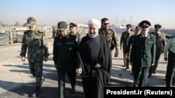 Прэзыдэнт Ірану Хасан Рухані на ваенным парадзе у Тэгеране. 22 верасьня 2017