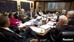 Ситуационная комната в Белом доме. Обсуждается положение на Украине