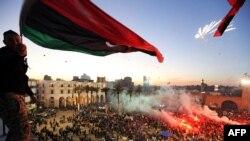 Прославата на годишнината од соборувањето на режимот на Моамер Гадафи во Либија