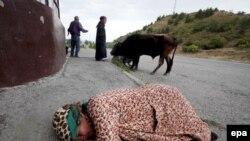 Десятки тысяч грузин покинули свои дома в Южной Осетии и внутренних районах страны