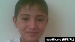 Бухарский подросток Асылбек Хамроев.