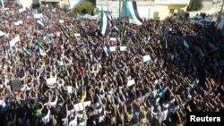 Suriyada prezident əleyhinə etiraz aksiyası. 13 Noyabr 2011
