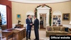 Митт Ромни и Барак Обама во время встречи в Белом доме в 2012 году вскоре после проигрыша Ромни Обаме на президентских выборах