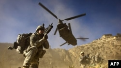 File phot of NATO troops in Afghanistan.