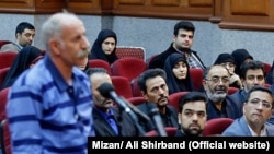Gonabadi Dervish, Mohammad Reza Salas in a court in Tehran on Sunday March 11, 2018.
