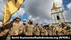 Фото з денного Маршу добровольців, Київ, 14 березня 2020 року
