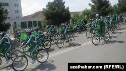 Ашғабадтағы велосипед күні