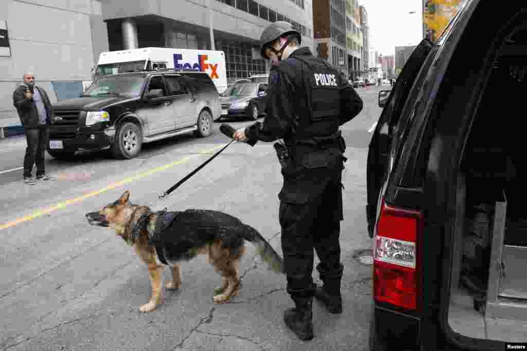 تعقیب و ردیابی مهاجمان از سوی نیروهای پلیس