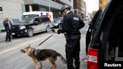 Pamje e pjesëtarëve të policisë së Kanadasë