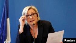 Французский политик Марин Ле Пен, лидер партии «Национальный фронт».