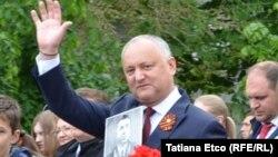 Igor Dodon la manifestația socialiștilor de 9 mai