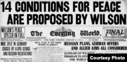 Cele 14 Puncte ale lui W. Wilson în presa timpului (Foto: I. Țurcanu, M. Papuc, Basarabia în actul Marii Uniri de la 1918)