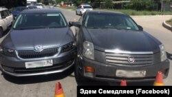 Авто Еміля Курбедінова потрапило в ДТП