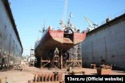 В доке 13-го судоремонтного завода Черноморского флота