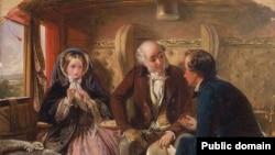 Абрахам Соламан «Першая кляса. Сустрэча. Каханьне зь першага погляду» (1855)
