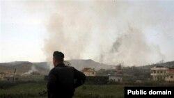 Pamje nga shpërthimi i municioneve në fshatin Gërdec