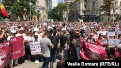 Учасники протесту у Кишиневі, 24 червня 2018 року