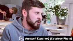 Мянчук Аляксей Караткоў, якога затрымалі ля КДБ 28 ліпеня