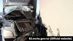 Авария на трассе в районе Симферополя, 18 января 2019 года