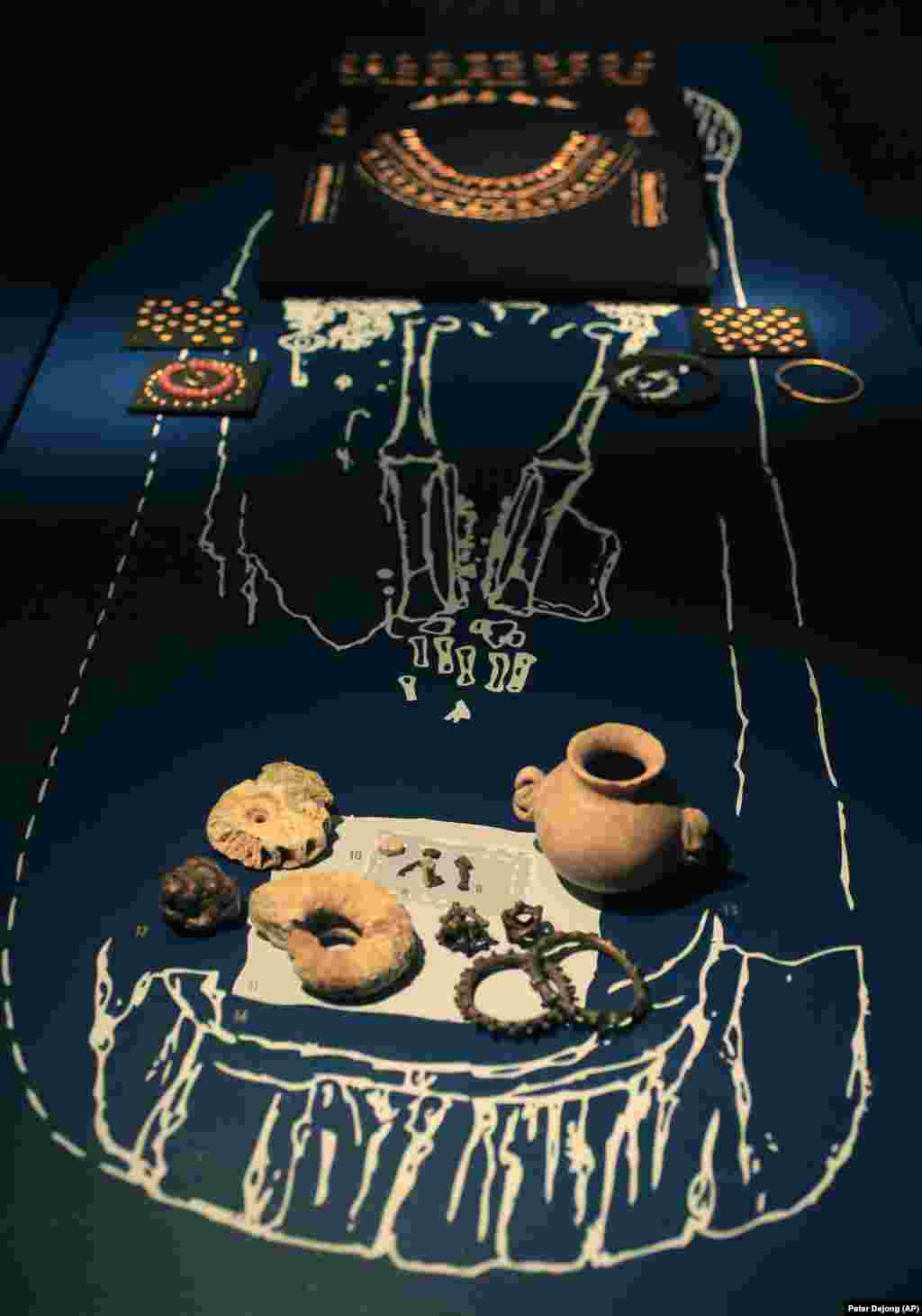 Artifacts from the grave of a Scythian noblewoman from the first century A.D.