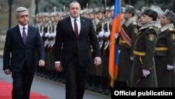 Վրաստանի նախագահի հրաժեշտի արարողությունը Հայաստանի նախագահի նստավայրում, լուսանկարը՝ նախագահականի
