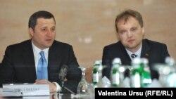 Влад Филат и Евгений Шевчук на переговорах в Тирасполе