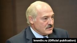 Президент Белоруссии Александр Лукашенко на встрече с российским коллегой Владимиром Путиным, Сочи, 23 августа