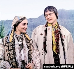 Ларыса Кадачнікава і Іван Мікалайчук у ролях Марычкі і Івана. 1964 г.