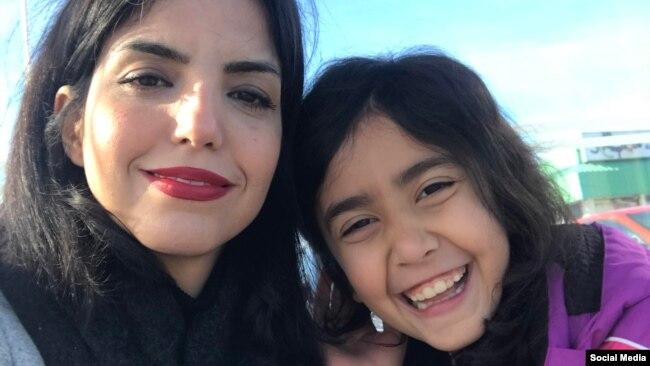 اعظم جنگروی و دخترش، پس از خروج از ایران