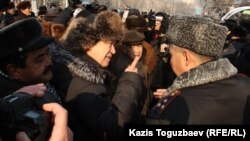 Митинг оппозиции против действий властей. Алматы, 28 января 2012 года.