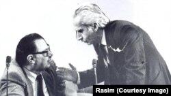 Baş nazir Həsən Həsənov və millət vəkili Tofiq Qasımov. 1991