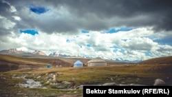 Долина Сары-Джаз в Иссык-Кульской области.