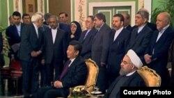Голова КНР Сі Цзіньпін та президент Ірану Хасан Роугані