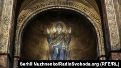 Собор Святої Софії у Києві. Мозаїка – зображення Богородиці Оранти, 11 століття