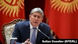 Президент Бишкек шаарынын тургундары менен жолугушууда.