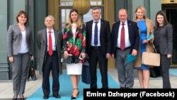 Учасники зустрічі глави МЗС України Павла Клімкіна з президентом Туреччини Реджепом Ердоганом. Анкара, 30 березня 2018 року