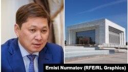 Сапар Исаков и Исторический музей в Бишкеке. Коллаж.