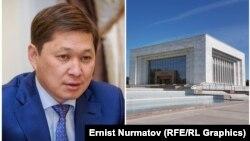 Сапар Исаков и Национальный исторический музей. Коллаж.