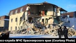 На другой день после взрыва газового баллона. Красноярск. Февраль 2019 г.